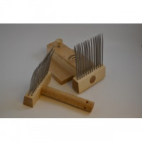 Wool combs Maxi with comb-holder